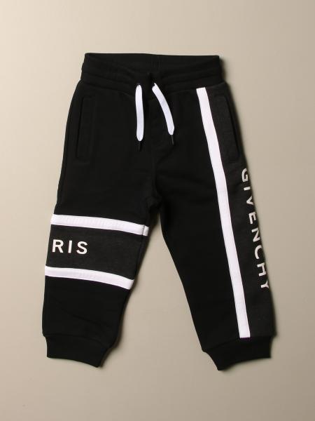 Pantalone jogging Givenchy in cotone con logo e bande