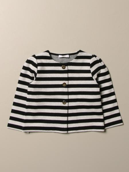Liu Jo cardigan in striped cotton blend with flower