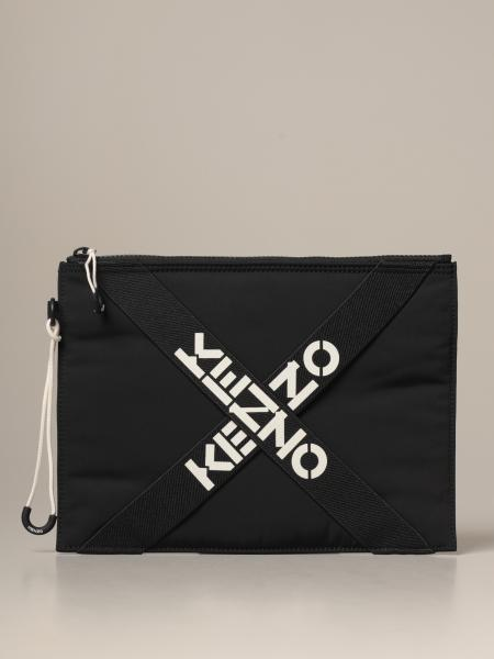 Kenzo Sport clutch bag in nylon with crossed bands