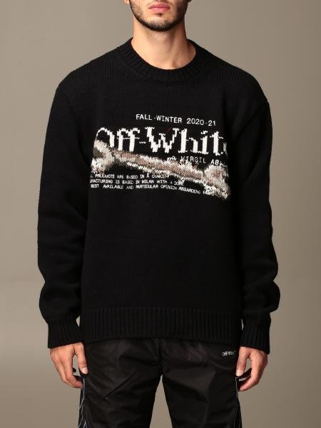 Off White men: Off White crewneck sweater with logo