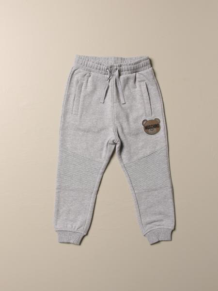 Pantalone jogging Moschino Kid con patch teddy
