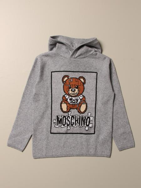 Moschino Kid cotton and wool sweater with Teddy puzzle