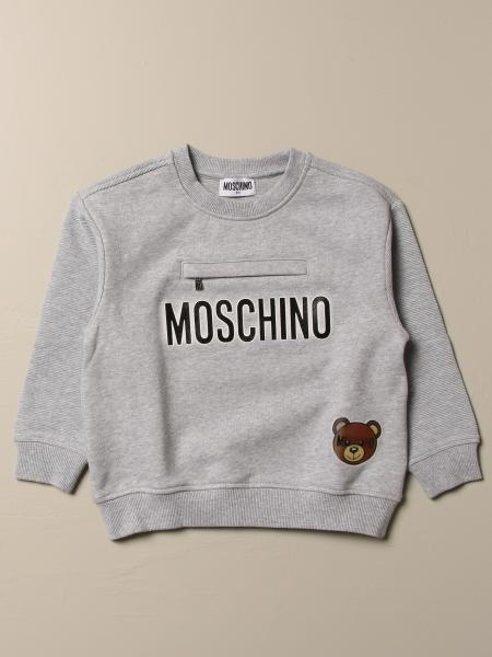 Moschino Kid cotton sweatshirt with logo and teddy