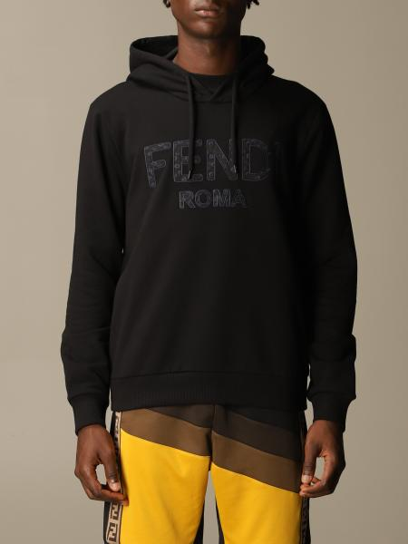 Fendi cotton sweatshirt with logo