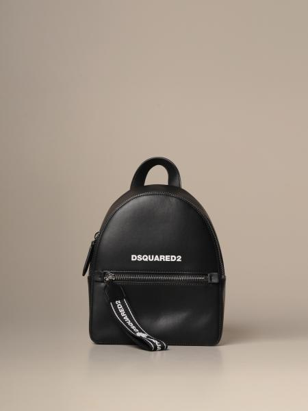 Dsquared2 backpack in leather with logo