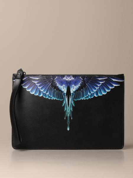 Marcelo Burlon leather pochette with wings print