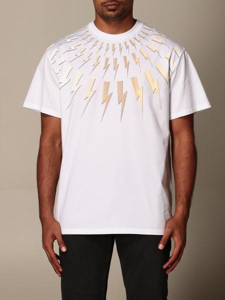 Neil Barrett: T-shirt Neil Barrett con fulmini