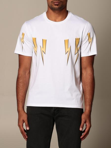 Neil Barrett: Neil Barrett t-shirt with lightning