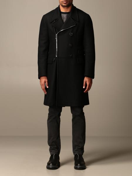 Neil Barrett double-breasted coat with zip