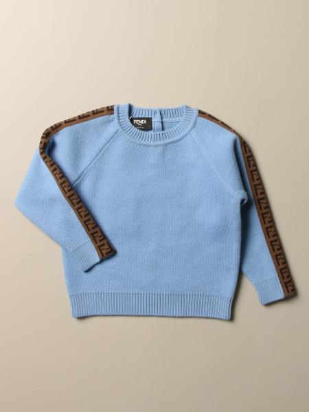 Fendi kids: Fendi wool pullover with FF bands
