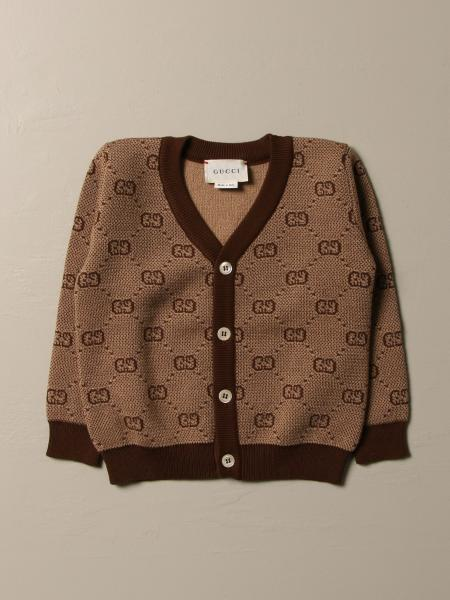 Gucci cardigan in wool and cotton with all over GG pattern