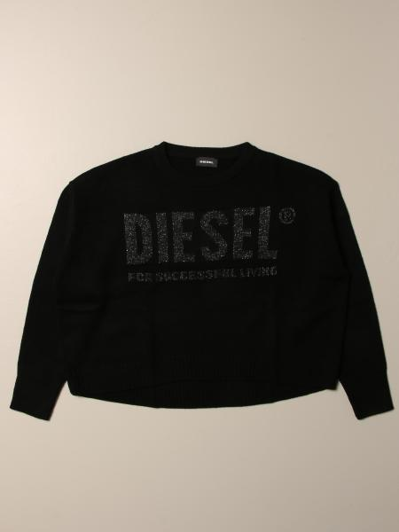 Diesel crewneck sweater in cotton with logo