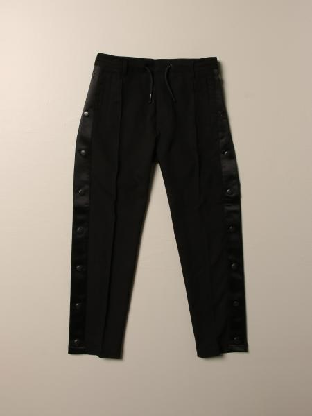 Diesel jogging trousers in cotton with bands and buttons