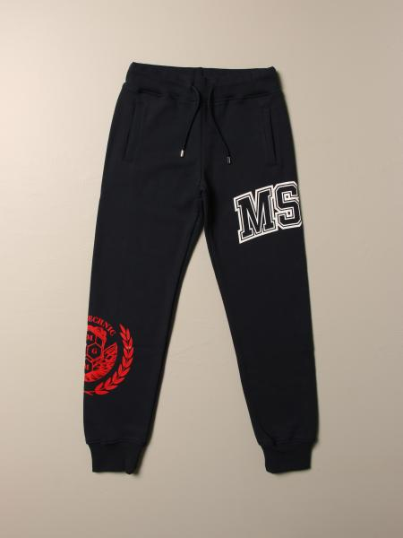Pantalone jogging Msgm Kids con logo e stemma