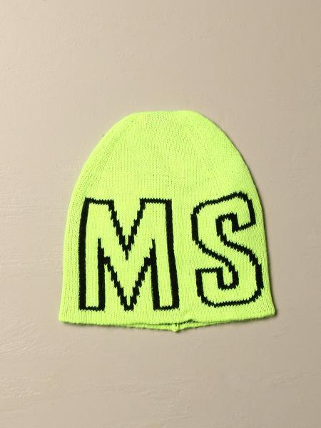 Msgm Kids hat with jacquard logo