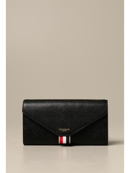 Thom Browne: Thom Browne leather wallet with shoulder strap