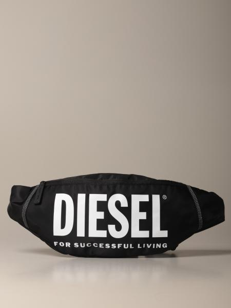 Diesel pouch in nylon with logo print