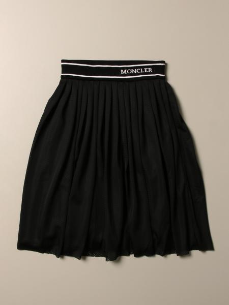 Moncler midi skirt with elastic band and logo