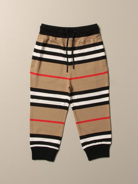 Burberry cotton trousers with striped pattern