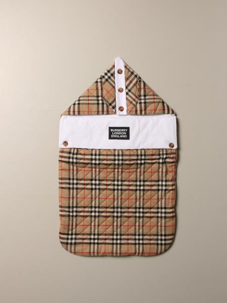 Burberry sleeping bag in check cotton