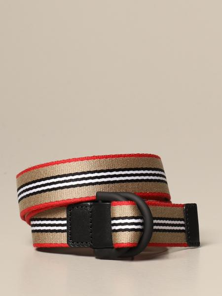 Burberry belt with vintage striped ribbon