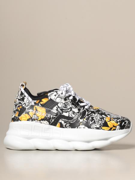 Versace Chain reaction sneakers in baroque / floral leather