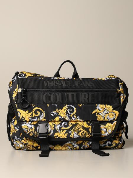 Versace Jeans Couture nylon shoulder bag with baroque print