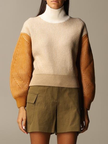 Kenzo: Kenzo pullover in tricolor ribbed wool