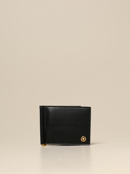 Versace leather wallet with logo