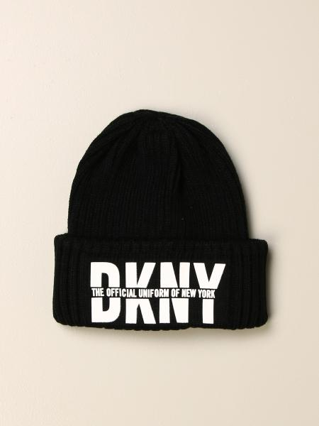 Ribbed DKNY beanie hat with logo