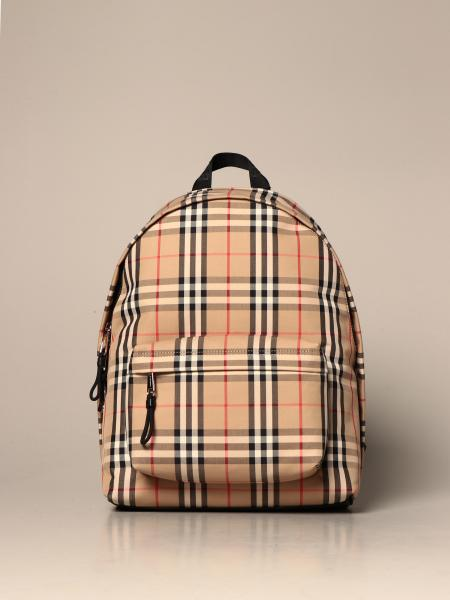 Burberry backpack in nylon with check pattern