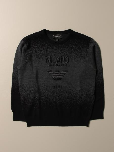Emporio Armani sweater in wool blend with embroidered logo