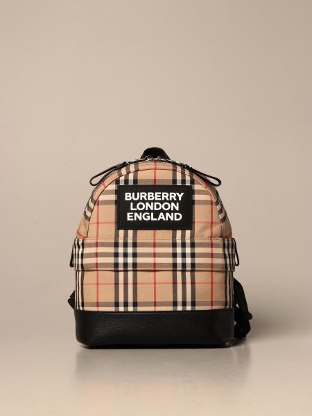 Burberry backpack in vintage check cotton