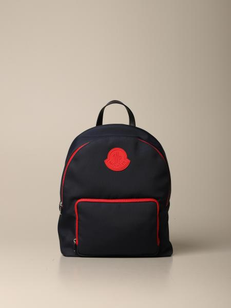 Moncler backpack in technical canvas with rubber logo