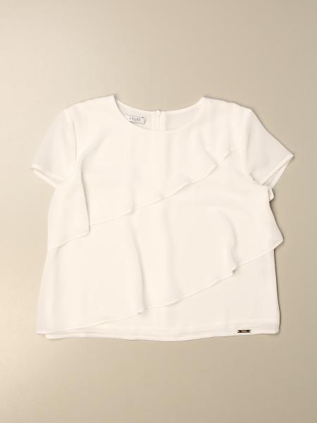Liu Jo kids: Liu Jo sweater with diagonal flounces