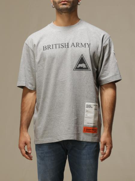 Heron Preston: T-shirt Heron Preston in cotone con logo british army
