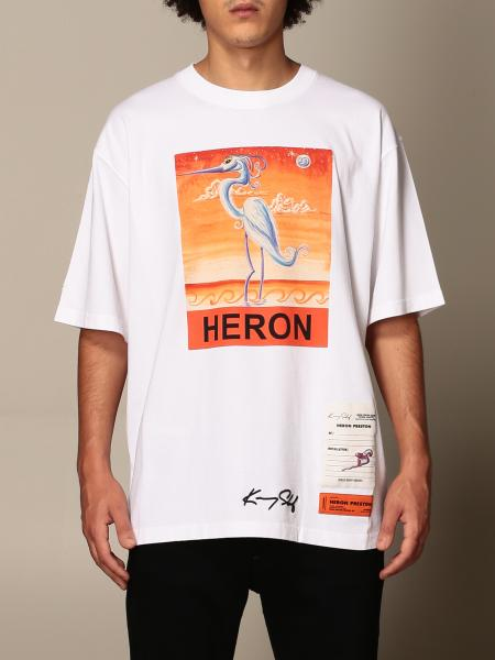 Heron Preston: T-shirt Heron Preston in cotone con stampa airone