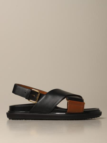 Fussbett Marni leather sandal