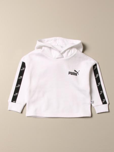 Puma cotton sweatshirt with hood and logo