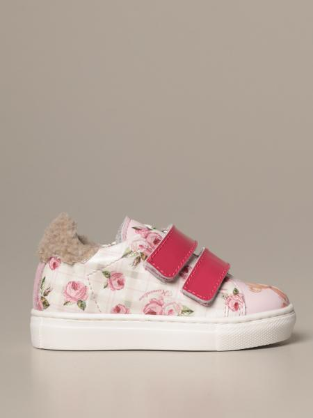 Monnalisa sneakers in printed synthetic leather