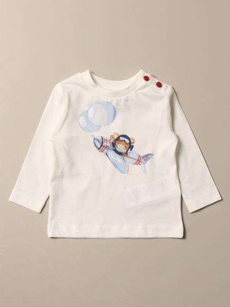 Monnalisa cotton T-shirt with pilot bear print