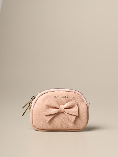Monnalisa leather purse with bow