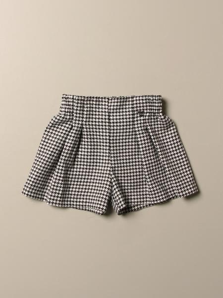 Monnalisa shorts with pied de poule pattern