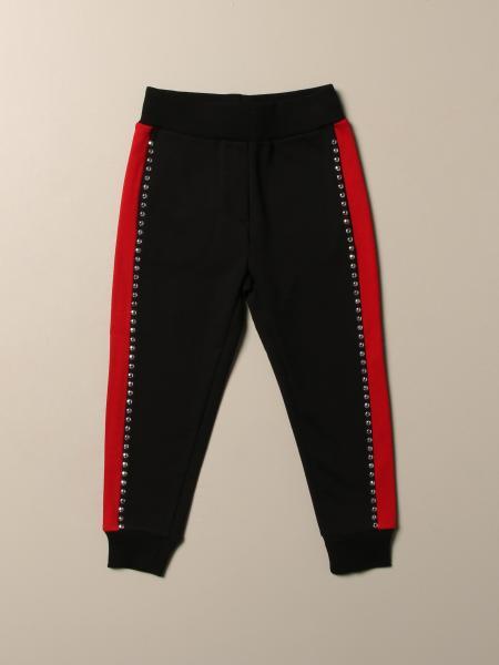 Pantalone jogging Monnalisa con bande e borchie