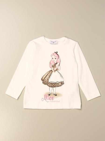 Monnalisa cotton T-shirt with Alice print