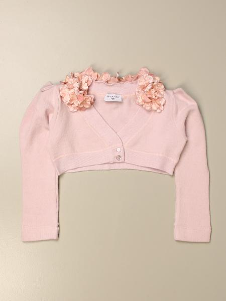 Monnalisa cardigan with floral applications