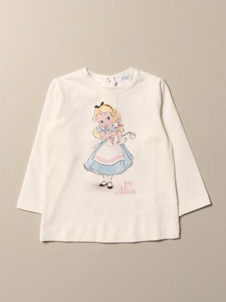 T-shirt Monnalisa in cotone con stampa Alice