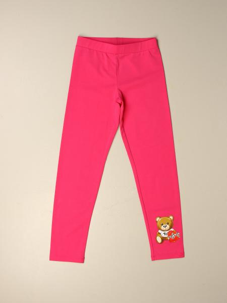Moschino Kid leggings with teddy heart