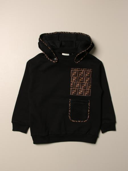 Fendi kids: Fendi sweatshirt with removable hood and FF pocket