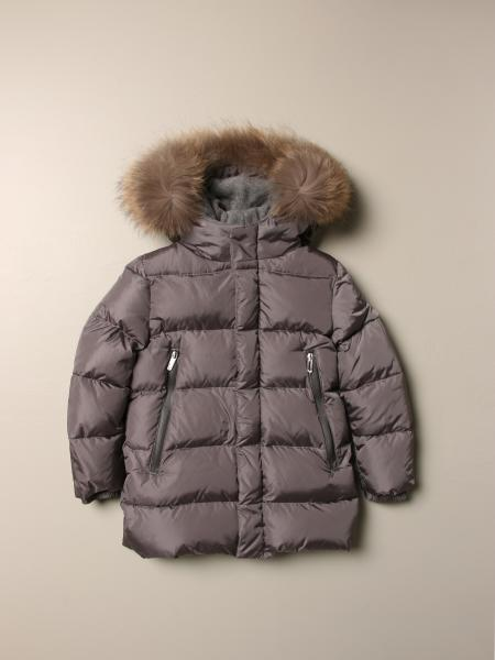 Il Gufo down jacket in padded nylon with hood